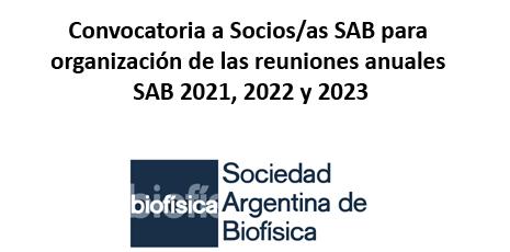 Organización de las reuniones anuales SAB 2021, 2022 y 2023